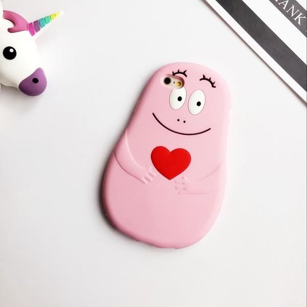 韓國泡泡先生粉色卡通iphone6 6s 手機殼蘋果6s 矽膠軟套防摔潮女4 7 吋