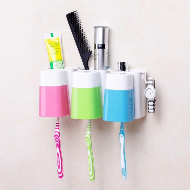 牙刷架套裝漱口杯防塵洗漱 吸盤掛壁韓式牙缸牙刷盒刷牙杯