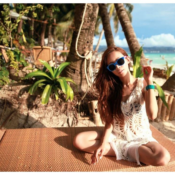 韓國沙灘比基尼外衣波西米亞罩衫