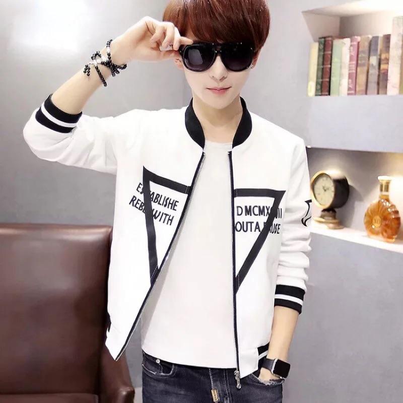 夹克男士棒球服青少年韩版修身男装个性外套男潮卫衣
