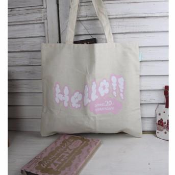 日雜包 hello spins 20 周年 粉紅泡泡Hello 帆布包 袋雜誌包肩背包少女