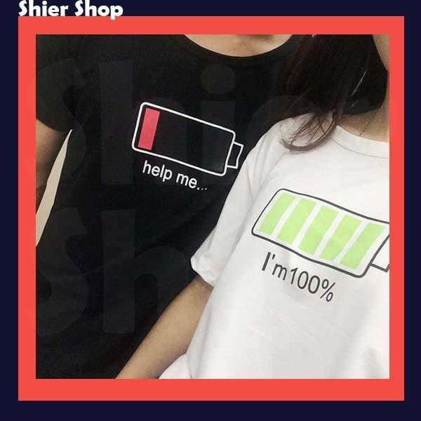 ~ 不用等~ 款 價情侶裝 男女情侶閨密款電池充電寬鬆短袖T 恤~2 色~~ShierSh