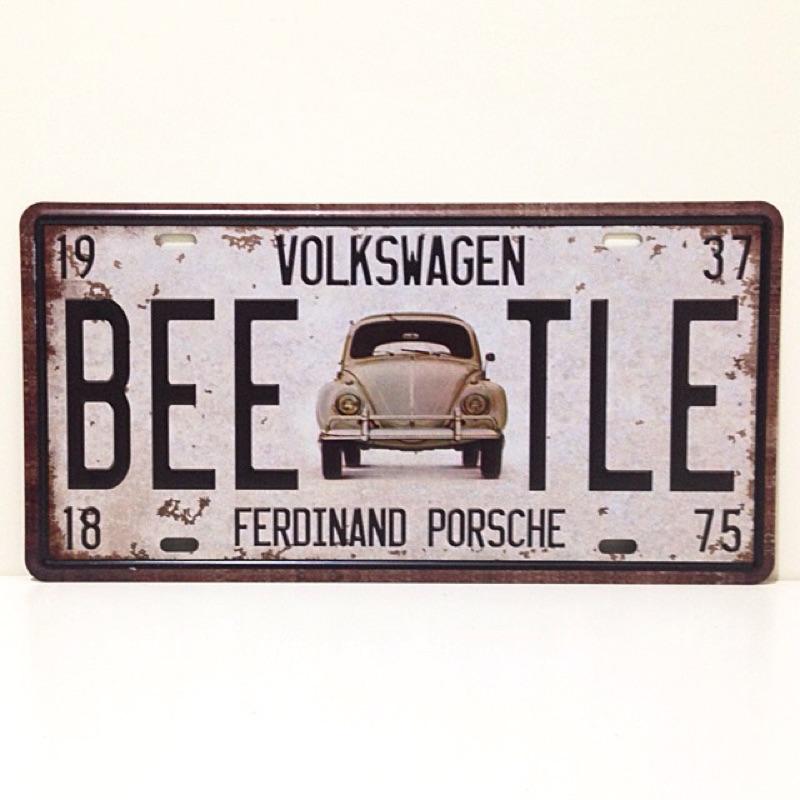 VW Beetle 金龜車裝飾鐵牌鐵皮畫