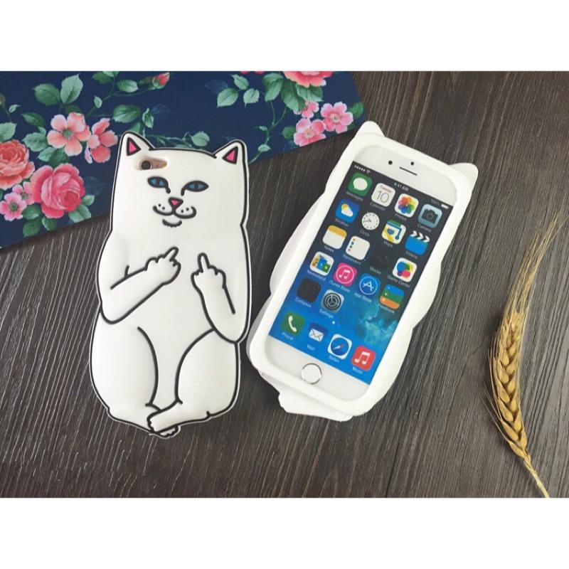 ~皮瘋~淘氣口袋小賤貓手機殼iPhone 5s SE 6s 6s Plus 可愛調皮中指矽