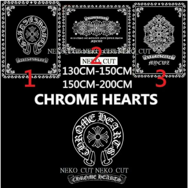 大 潮男 Chrome Hearts 克羅心春夏冷氣毯法蘭絨毛毯空調毯黑色毯子suprem
