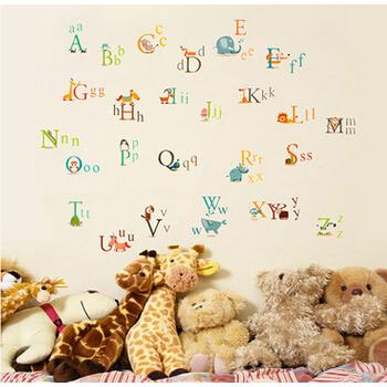 英文字母兒童學習教材滿額 壁貼JB0142 ~動物字母AY877 ~~HELLO 居家城堡