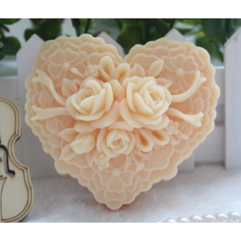 心形玫瑰花矽膠單模