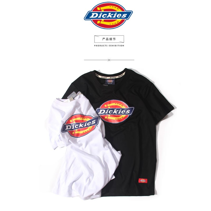 夏裝 潮牌余文樂日系dickies 字母印花工裝 男女情侶短袖T 恤