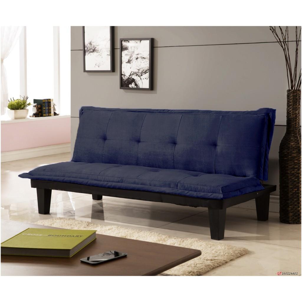~快樂窩 傢俱~無法超取 價四色 商業空間~伊梧奺~藍色绒布布沙發床三人位沙發床沙發椅