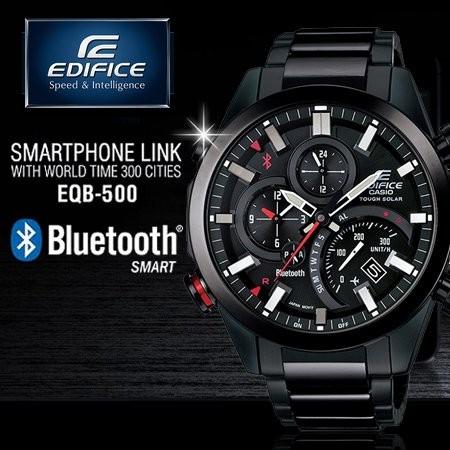 EDIFICE 高科技藍牙智慧錶款EQB 500DC 1ADR EQB 500DC 1A