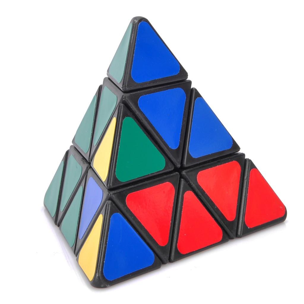 四色金字塔益智魔方多色(9 8cm )