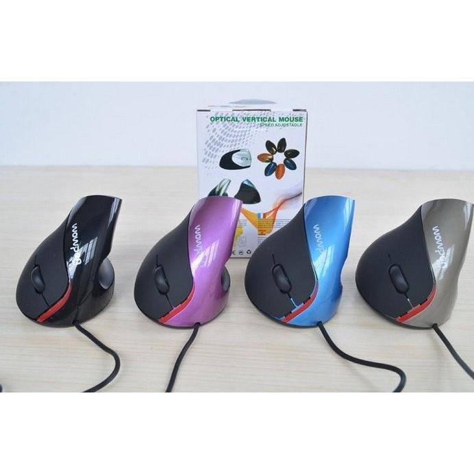 ~滑鼠垂直式滑鼠直立式滑鼠~手握式垂直滑鼠USB 有線人體工程學垂直鼠標直立護腕鼠標5 鍵