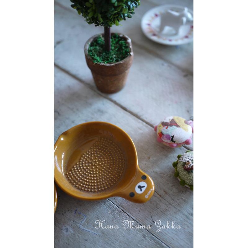 拉拉熊研磨器磨蒜頭黃色棕色廚房用品用具Zakka 隨身攜帶收集磨泥花木馬 雜貨