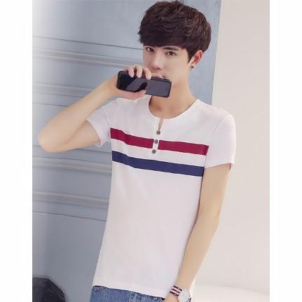 (部分 )(看選項)男士短袖T 恤純棉圓領青少年印花半袖體恤潮上衣服打底衫