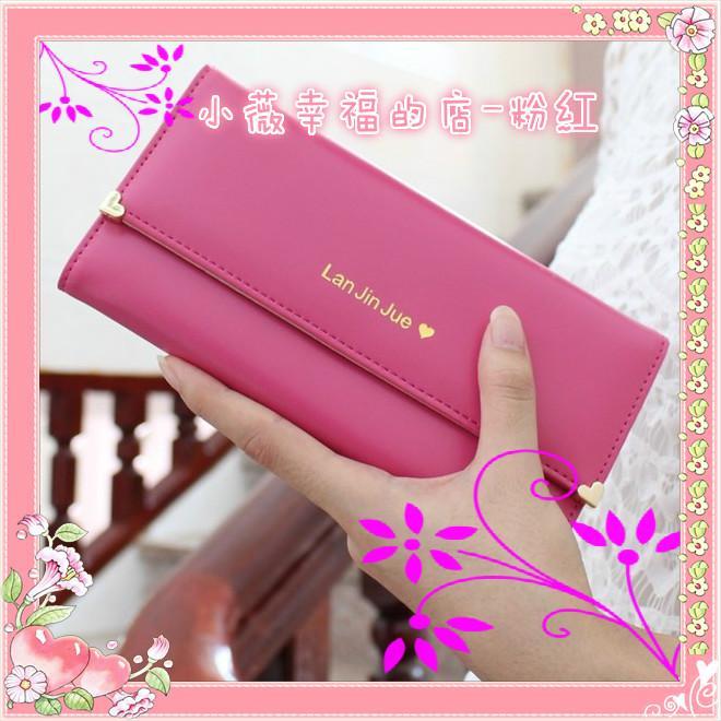 買一送一卡套或零錢包耳機包粉紅色甜心長夾錢包錢包女錢包錢包女長夾錢包女皮包零錢包護照夾短夾