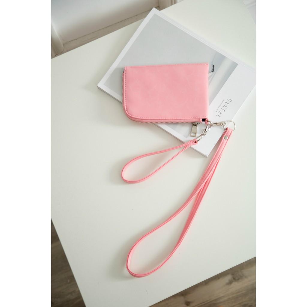 EASY SHOP 輕鬆購男女包新品軟皮掛繩掛脖子手機包零錢包鑰匙卡包 手拿迷你小包男女