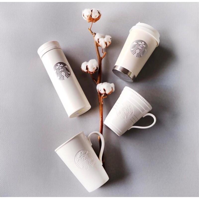 韓國starbucks 星巴克2017 摩登焦糖奶油白色系列保溫杯馬克杯隨行杯
