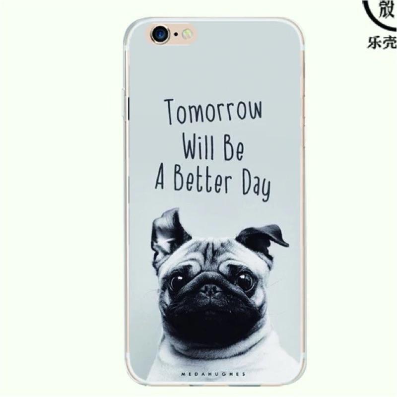 iPhone 6 6s 6plus 6splus 黑白沙皮狗手機軟殼