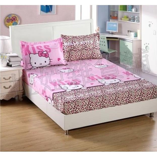 ~單人~床套床單床包被套防滑床墊套枕頭套三件組四件組寢具用品KT 貓