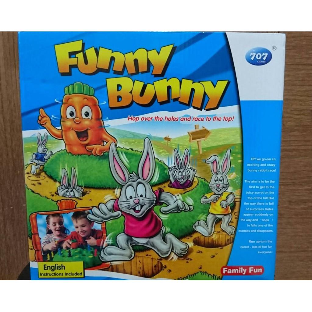 Funny Bunny 小兔子越野賽兔子大冒險兔子棋陷阱遊戲桌遊互動桌上遊戲