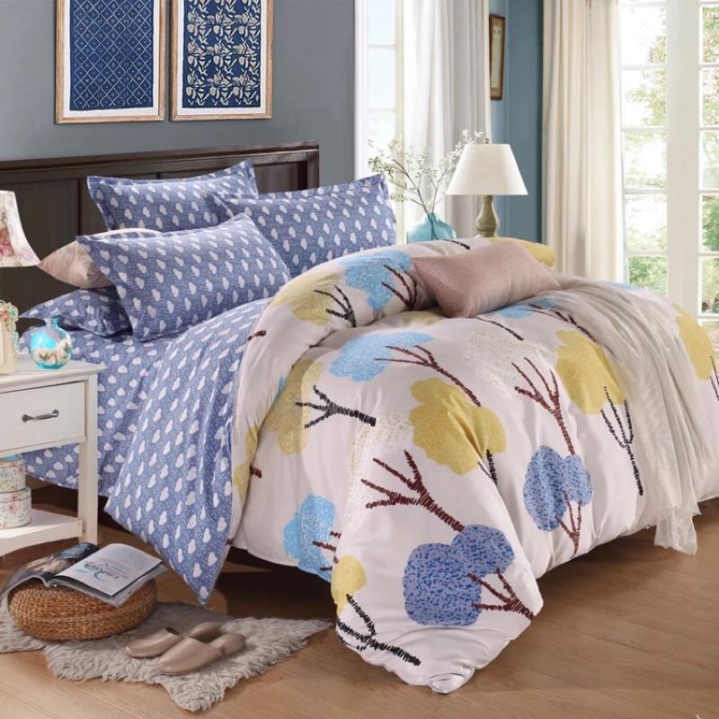 ! !棉質多款雙人床包床單四件組