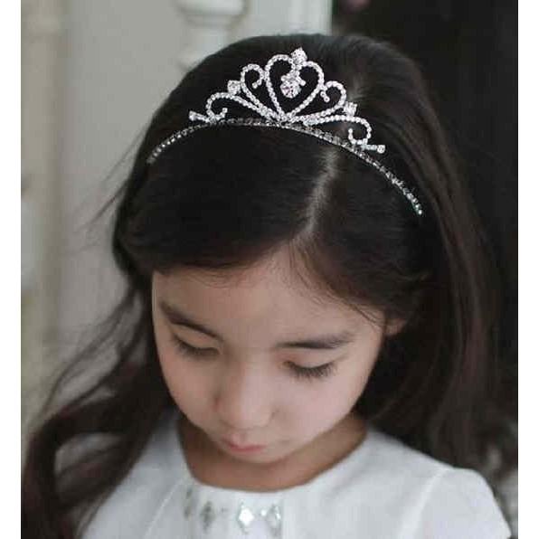 ~俏寶貝 ~女童 氣質愛心皇冠水鑽髮圈髮箍兒童髮飾兒童禮服 花童髮飾頭飾公主