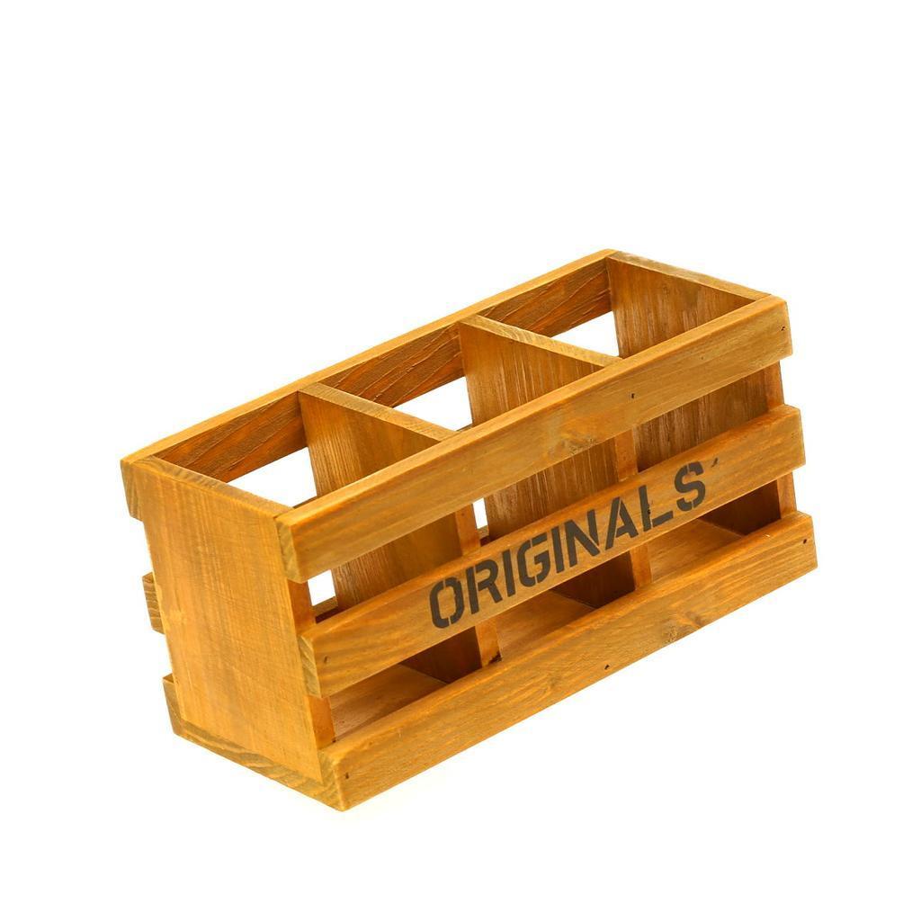 不賣了復古事務收納zakka 雜貨做舊手機遙控器三格收納盒木質桌面收納筆筒居家裝飾家居裝飾
