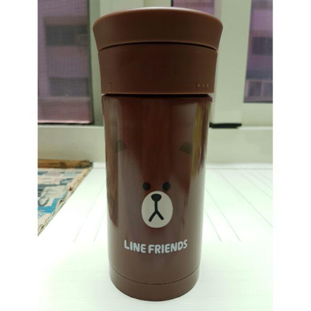LINE 布朗熊真空保溫杯熊大350ML 保溫保冷保冰隨行杯太空杯保溫瓶熱水瓶熱水壺外出