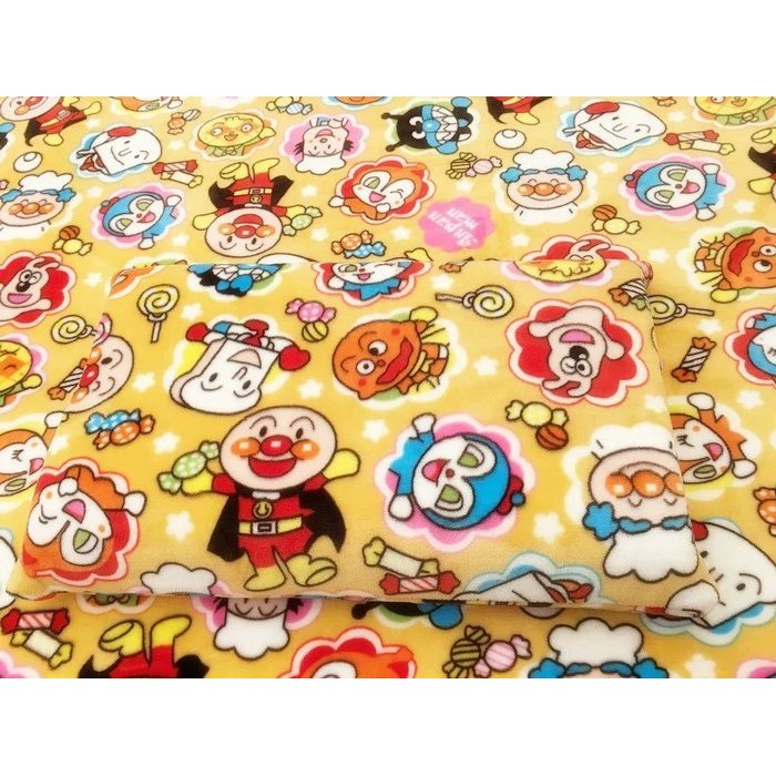 ~靓靓小館~卡通麵包超人枕頭套空調毯法蘭絨毯