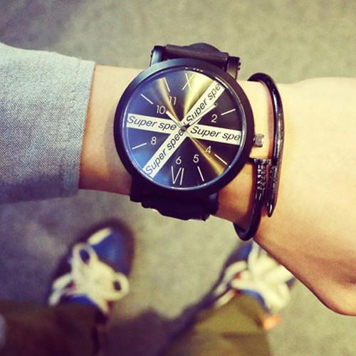 W064 韓國休閒超大錶盤 潮流男錶對錶女錶學生手錶皮帶
