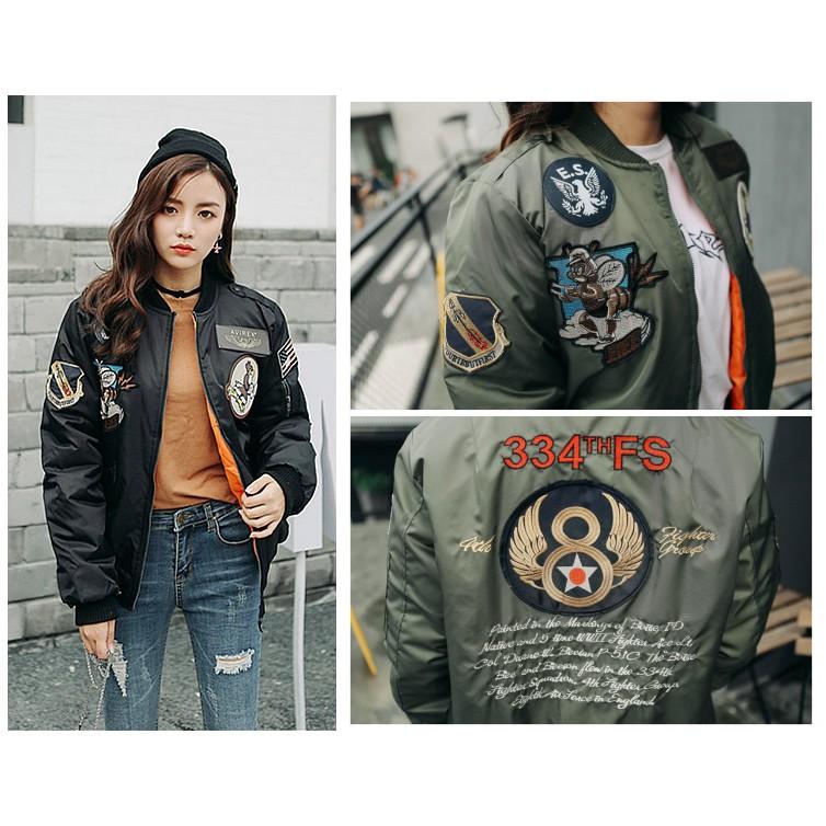 鋪棉夾棉款美國空軍風小蜜蜂老鷹刺繡貼布飛行外套MA1 MA 1