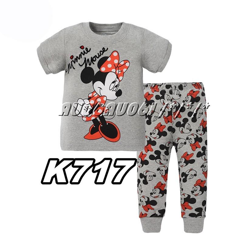 Phoebe cat #春夏#純棉#家居服睡衣休閒服 服套裝短袖上衣+長褲~K717 ~