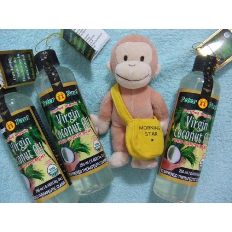 (三色貓)天然冷壓健康油Peter Paul 必得寶處女椰子油250ml 護髮護膚保濕聖品