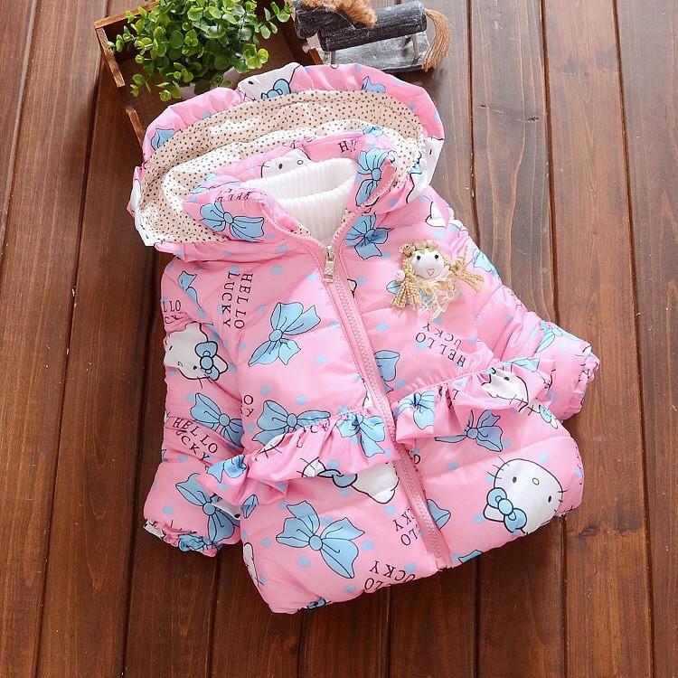 貓咪公主娃娃長袖外套 幼童 裝70 100cm 1 8 歲粉藍二色