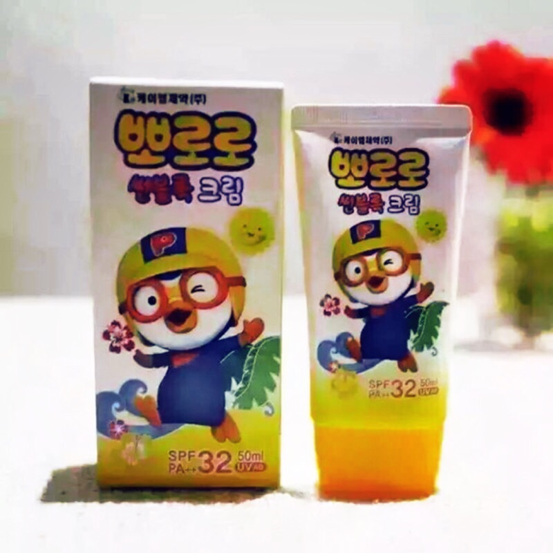 韓國pororo 兒童 防曬霜SPF32 PA