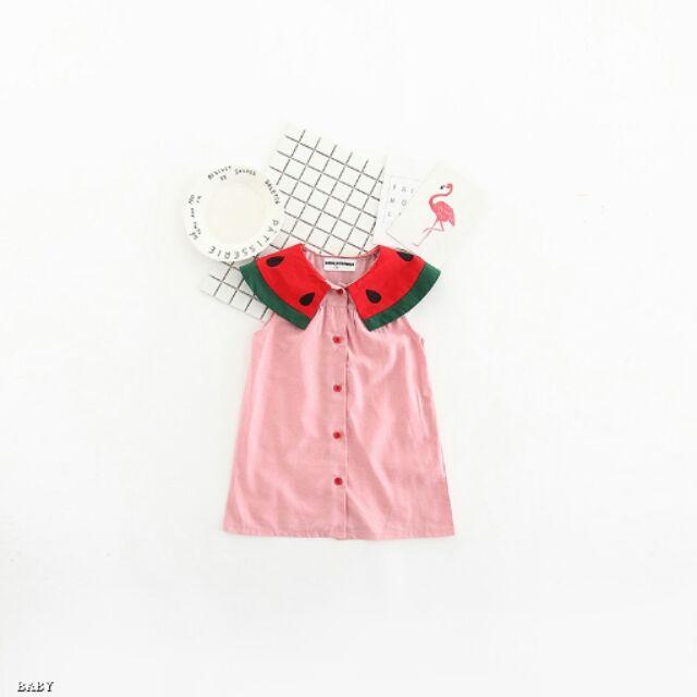 ♡蘋果小舖♡Do 新品~中小童俏皮西瓜背心裙露背連身裙洋裝~ 款~
