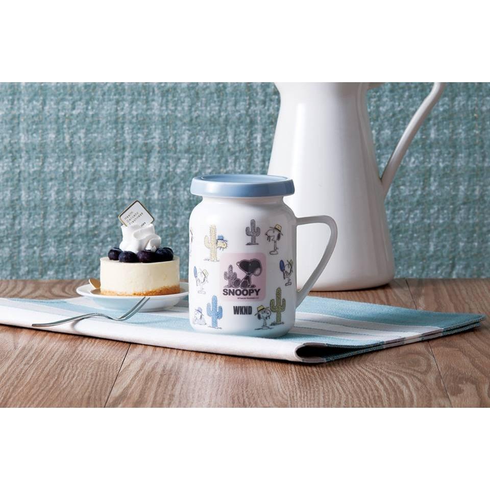 ~史努比~SNOOPY 清漾牛奶馬克杯可愛牛奶罐蓋杯水杯茶杯陶瓷杯咖啡杯杯子餐具居家