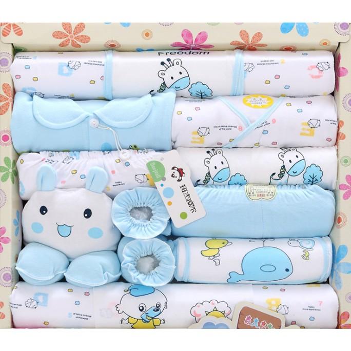 純棉嬰兒衣服新生兒 套裝母嬰用品初生剛出生滿月寶寶18 件套