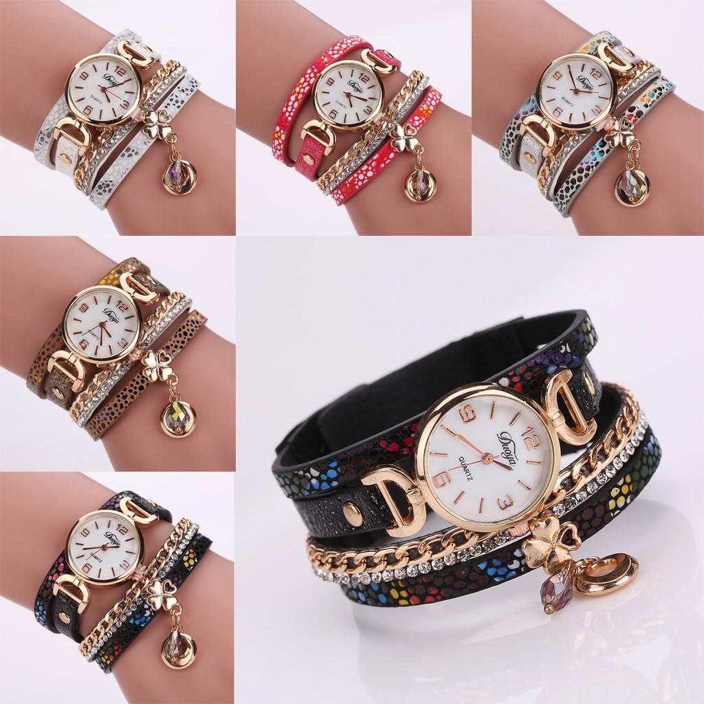 ~duoya 品牌手錶~時裝表長鏈吊墜翠花石英手錶