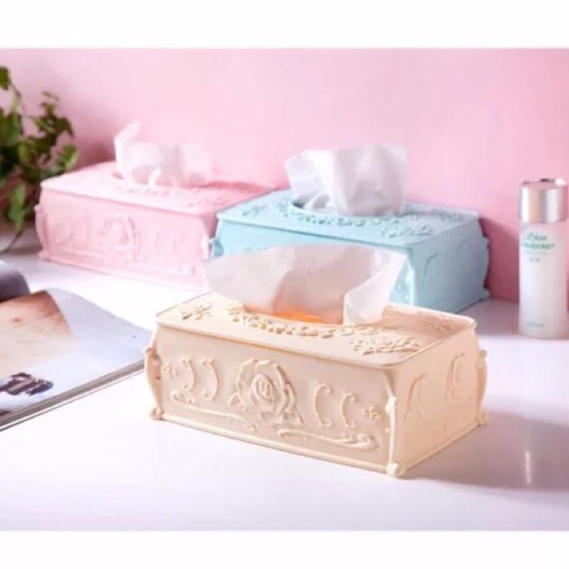 法式面紙合面紙套桌上型化妝箱化妝品收納箱儲物箱鏡台化妝台化妝桌化妝車