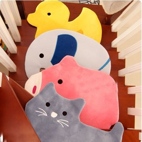~ ~可愛卡通動物地墊玄門地墊進門腳踏地毯兒童臥室地墊 地墊