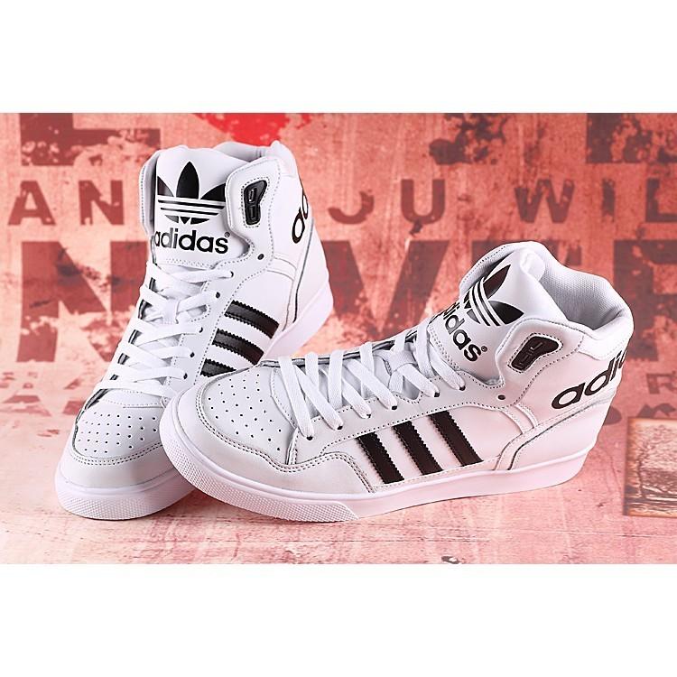 36 44 範冰冰同款李宇春同款adidas 高幫男女鞋M20863 黑白 休閒潮流 鞋休