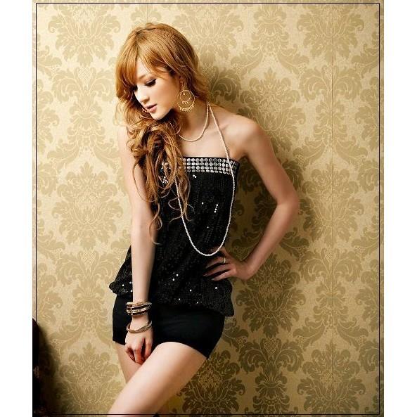 ~尤路路~~YY824 ~ 亮片鉚釘平口抹胸包臀洋裝連身裙洋裝夜店性感可愛OL 甜美氣質騷