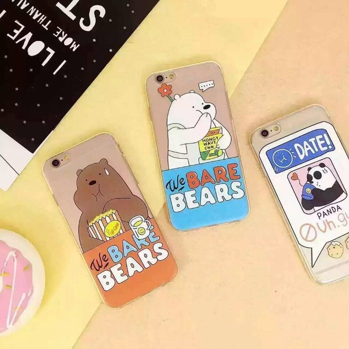 吃貨熊熊三人組TPU 透明軟殼全包蘋果iPhone6 6Plus 6S 6S Plus i