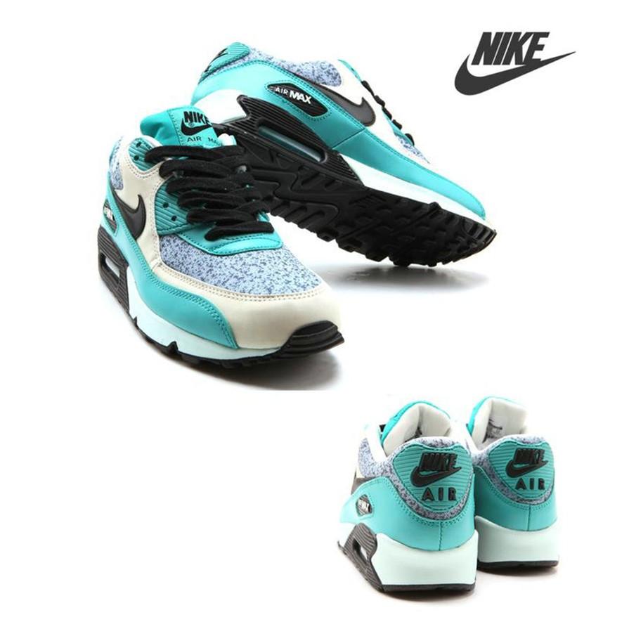 NIKE AIR MAX 90 女跑步鞋 日韓潮流白綠