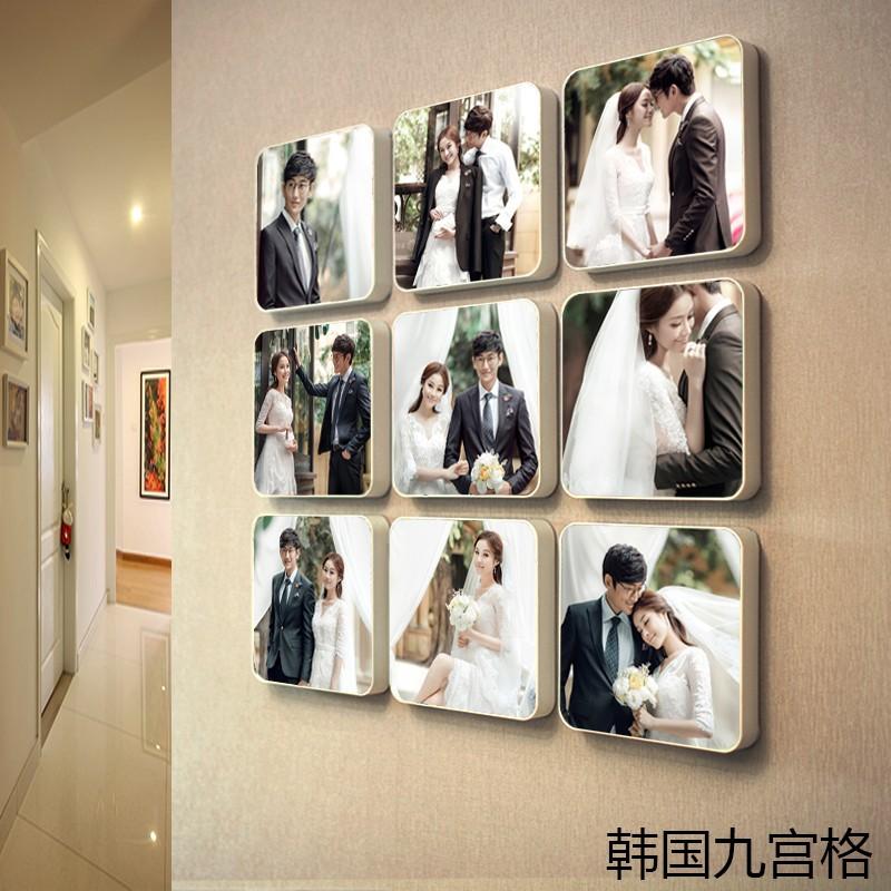 定制韓國九宮格照片墻 客廳畫框 臥室相框墻掛墻相片墻