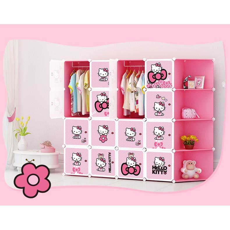 蔻絲兒童衣櫃卡通簡易衣櫃寶寶小孩衣服組裝收納櫃整理櫃小衣櫥