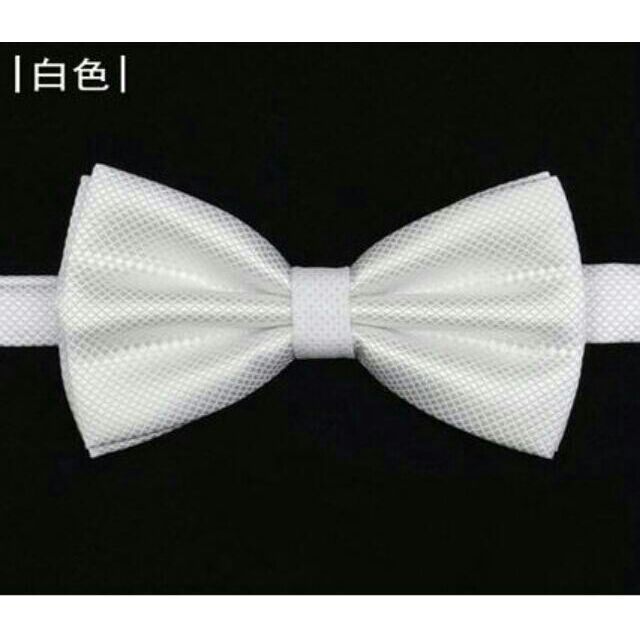 白色男女領結結婚領結婚禮領結新郎領結領帶蝴蝶結