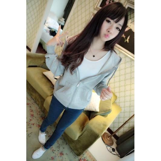 女生外套韓國女士薄款休閒連帽開衫 學生外套
