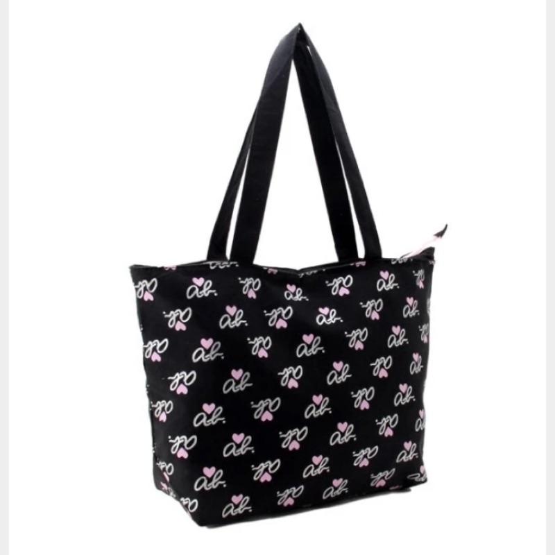 日雜附贈款agnes b 燙金logo 圖案印刷托特包側背包小b 包